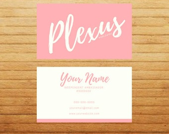 PRINTED Simple Chic Business Cards - Front & Back - PINK - Gloss Finish