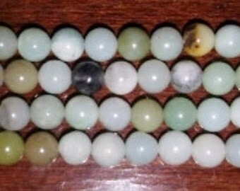 SALE! Amazonite beads 4mm round beads 4mm stone beads round stone beads blue stone beads light blue beads