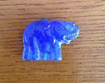 Miniature Cobalt Blue Glass Elephant