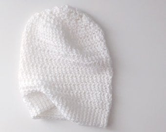Hand Crocheted Slouch Beanie - BABY-ADULT SIZES - Pick your color