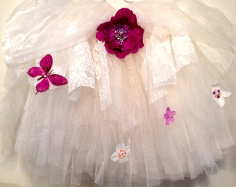 Lavender on Ivory Tutu