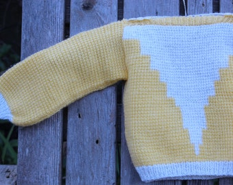Baby Bowie Yellow Handknit Sweater