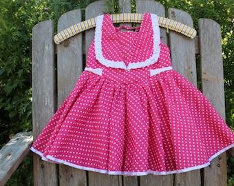 Pink Polka Dot Party Dress
