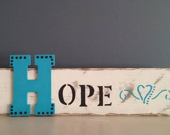 HOPE  Home Decor Sign