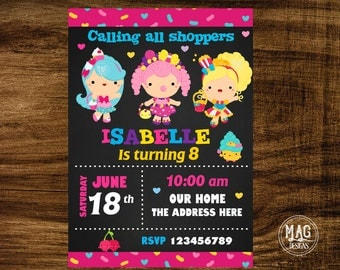 Shopkings  Invitation- Shopkings  Birthday Party Invitations - Shopkings  Invitation - Shopkings  Digital Invitations.