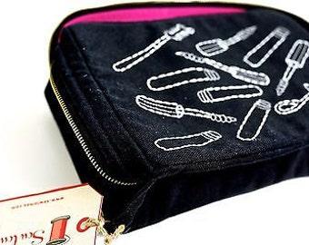 Make Up Bag Mascara design Black