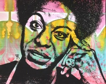 NINA SIMONE Pop Art Original Painting