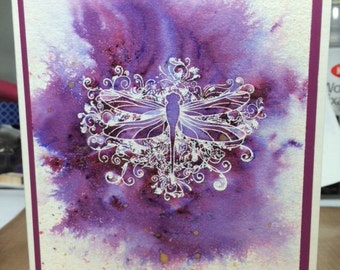 Dragonfly Watercolor Card