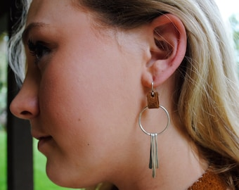 Sterling and Leather Dangles