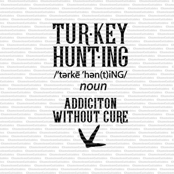 Turkey Hunting Svg Definition Tracks Hunter Shirt Decal