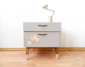 50s Dresser MID CENTURY Cabinet birds