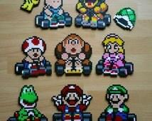 Mairo Kart Nintendo bracket Pearl patch Perler