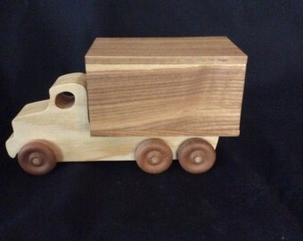 truck, moving van, moving truck, wooden truck, handmade truck, vehicles, transportation