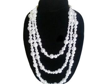 Renetta's White Pearl Necklace