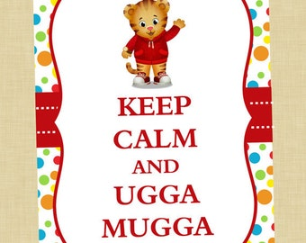Daniel Tiger Keep Calm Art