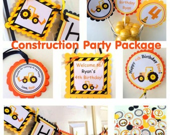 Construction Party Package