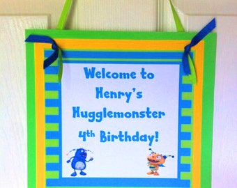 Henry Hugglemonster Welcome Door Sign