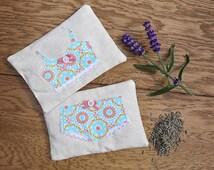 Lavender Bags - Set of 2 Pretty Lingerie Drawer Lavender Bags
