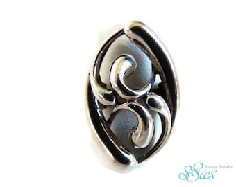 Beautiful antique Art Nouveau 835 silver ring size 17.5