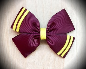 Hogwarts Gryffindor House Harry Potter Hair Bow