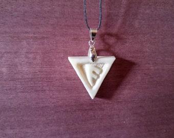 Ansuz Rune Bone Pendant