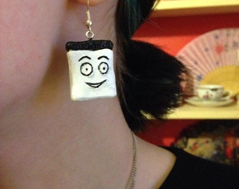 Don't Hug Me I'm Scared Inspired Notepad And Pencil Earrings