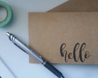 hello card kraft paper card & envelope