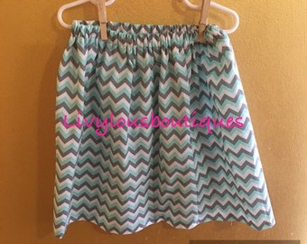 Toddler skirt chevron 3-4t