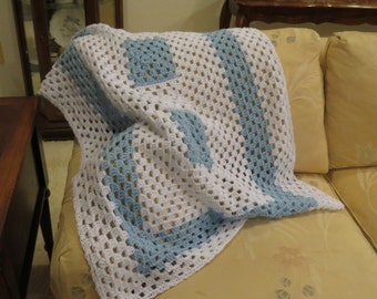 Blue & White Blanket