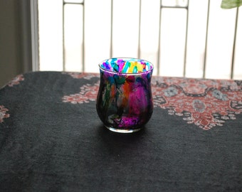 Alcohol Ink Votive Candle Holder