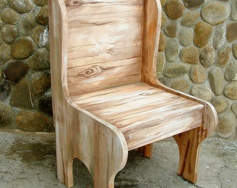 Painted wooden chair Children's chair Gift idea Baby chair Child seat