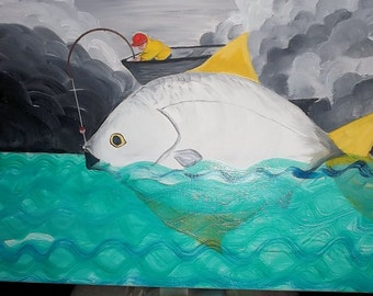 Original Painting - Fish
