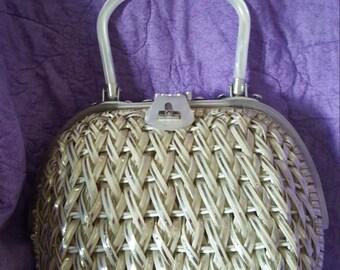 Goldco vintage wicker purse