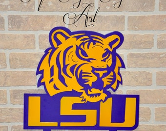 LSU Tiger Yard Stake