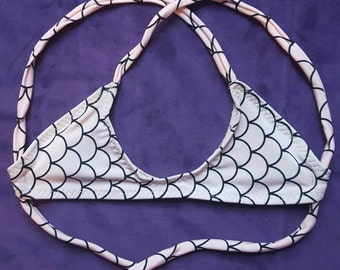 Light pink fish scale bikini top