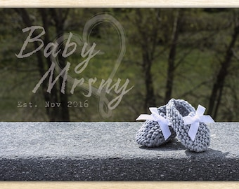Baby Announcement Booties - Digital | Printable Announcement