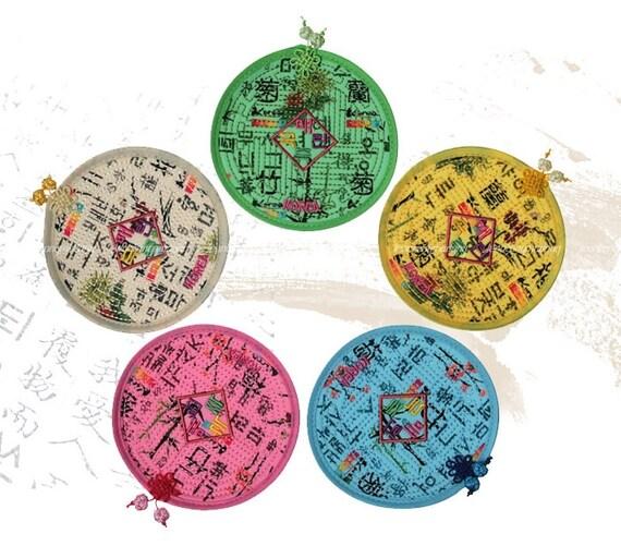 Korea Traditional Hunminjeongeum Coasters 5 Piece Set By