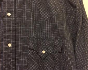 Vintage Western/Rancher/Cowboy Shirt Long Sleeve Mens M