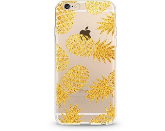 Golden Pineapple - iphone 7 case, clear iphone 7 case, clear iphone 7 case ,slim iphone 7 cases, Hard Iphone 7 case