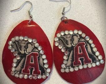 Roll Tide Alabama Earrings