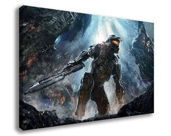 HALO 2 3 4 REACH WARS Odst Canvas Wall Art