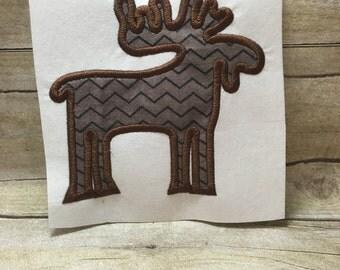 Moose Applique, Moose Applique Embroidery Design