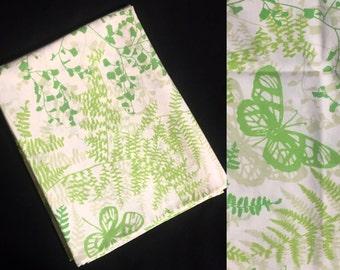 Single Pillowcase   Standard Size   Vera for Burlington   Fern Greenery and Butterflies