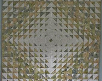 Snowflake - Ripple Throw Quilt