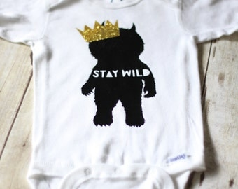Where The Wild Things Are inspired baby onesie READY TO SHIP
