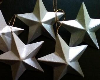 Silver Star Ornaments