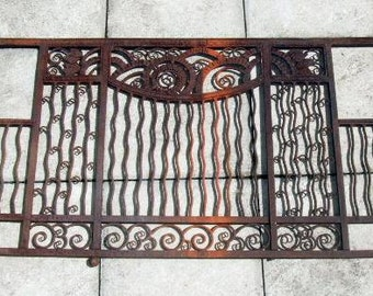 Edgar Brandt Art Deco wrought iron grill