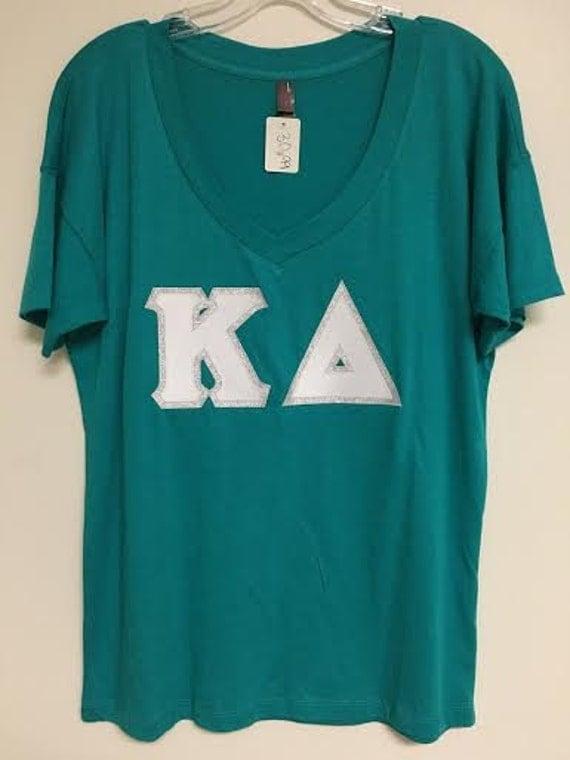 sorority stitched letter shirt kappa delta