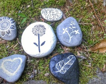 Hand Painted Rock Set