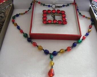 Vintage Necklace & Vintage Buckle